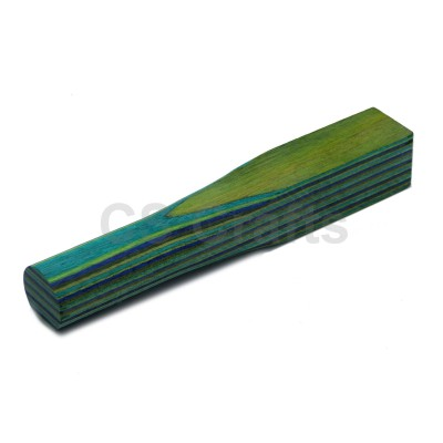 Layered Coloured Wood Blank - Green, Blue, Yellow