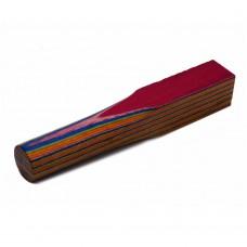 Layered Coloured Wood Blank - Orange, Green, Blue, Purple, Yellow