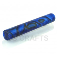 Acrylic Pen Blank 19mm Dark Blue & Black Line