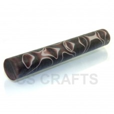 Acrylic Pen Blank 19mm Coffee with Pink Line