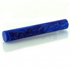 Acrylic Pen Blank 19mm Dark Blue & White Line