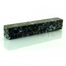 Acrylic Pen Blank Crushed Black Pearl