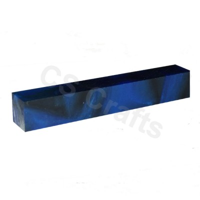 Acrylic Pen Blank Dark Blue & Black Line