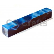 Acrylic Pen Blank 20mm Royal Blue, White & Black Line