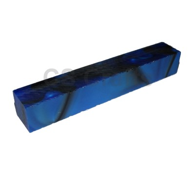Acrylic Pen Blank 20mm Dark Blue & Black with Pearl