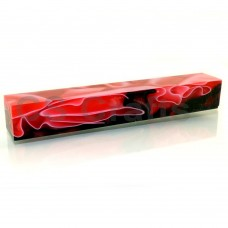 Acrylic Pen Blank 20mm Red with White & Black Line