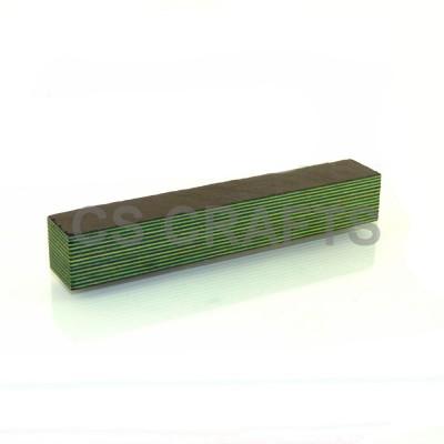 Layered Coloured Wood Blank - Black & Green