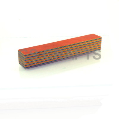 Layered Coloured Wood Blank - Orange, Green, Blue, Purple, Yellow