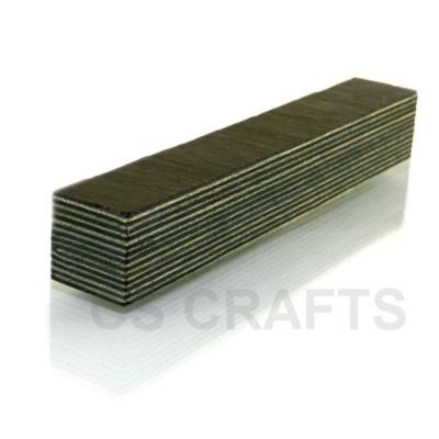 Silver Gray Coloured Wood Pen Blank