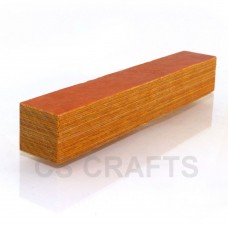 Coloured Wood Pen Blank Golden