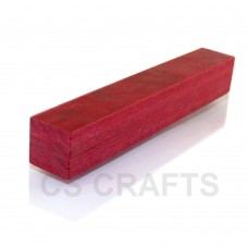 Spain Red Coloured Wood Pen Blank