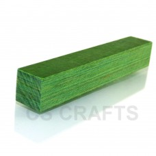 Emerald Coloured Wood Pen Blank