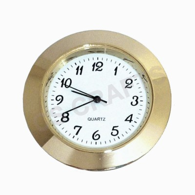 33mm Clock Insert - Gold Bezel - Arabic numerals