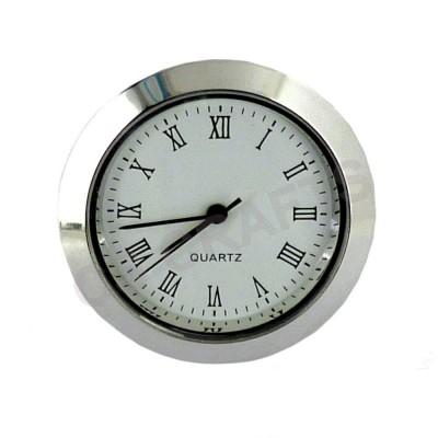 33mm Clock Insert - Silver Bezel - Roman numerals