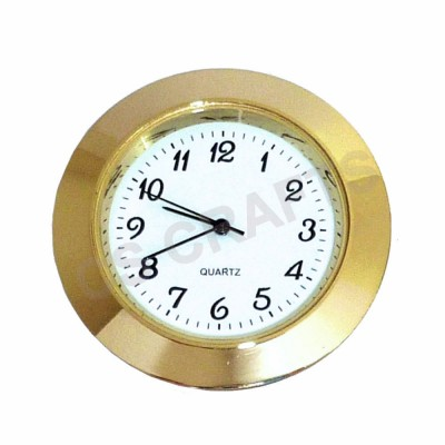 37mm Clock Insert - Gold Bezel - Arabic numerals