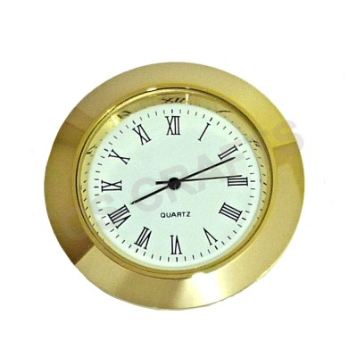 37mm Clock Insert - Gold Bezel - Roman numerals