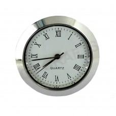 37mm Clock Insert - Silver Bezel - Roman numerals