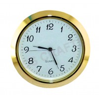 55mm Clock Insert - Gold Bezel - Arabic numerals