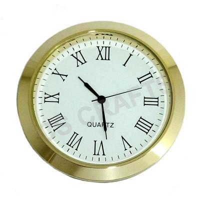 55mm Clock Insert - Gold Bezel - Roman numerals