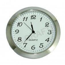 55mm Clock Insert - Silver Bezel - Arabic numerals