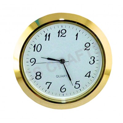 60mm Clock Insert - Gold Bezel - Arabic numerals