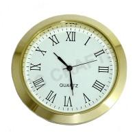 60mm Clock Insert - Gold Bezel - Roman numerals