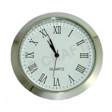 60mm Clock Insert - Silver Bezel - Roman numerals