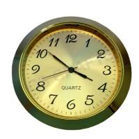 60mm Clock Insert - Gold Bezel - GOLD DIAL -Roman numerals
