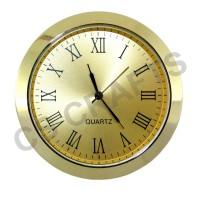 60mm Clock Insert - Gold Bezel - GOLD DIAL - Roman numerals