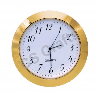 55mm Clock Insert - Gold Bezel - Arabic numerals