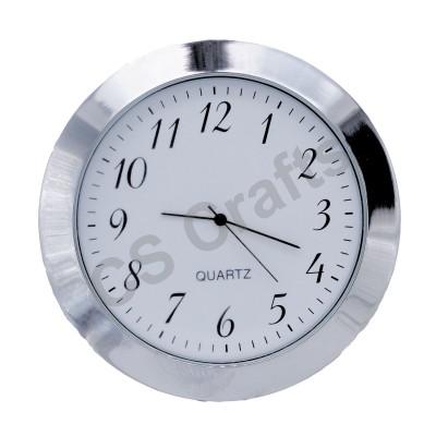 60mm Clock Insert - Silver Bezel - Arabic numerals