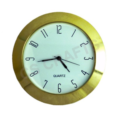 65mm Clock Insert - Gold Bezel - Arabic numerals