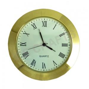 65mm Clock Insert - Gold Bezel - Roman numerals