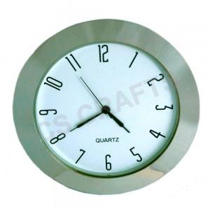 65mm Clock Insert - Silver Bezel - Arabic numerals