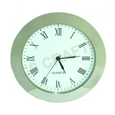 65mm Clock Insert - Silver Bezel - Roman numerals