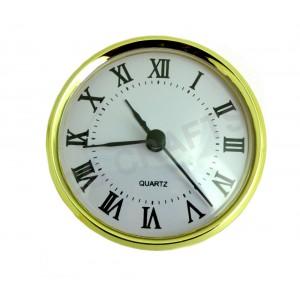 80mm Clock Insert - Gold Bezel - Roman numerals
