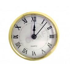 90mm Clock Insert - Gold Bezel - Roman numerals