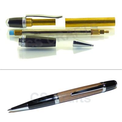 Chrome / Gun Metal Sierra Pencil Kit