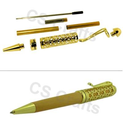 Gold European Filigree Pen Kit, Single Kit