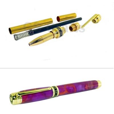 Gold Mysterious Sky Rollerball Pen Kit