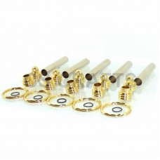 Secret Keyring in Gold finish - 5 Pack