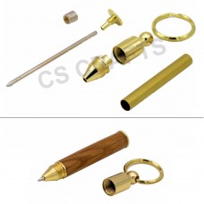 Pen Keyring in Gold finish