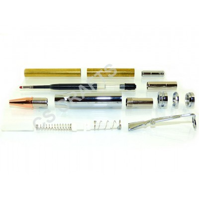 Chrome Bullet Click Pen Kit