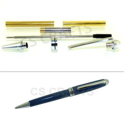 Chrome European Pen Kit, Single Kit