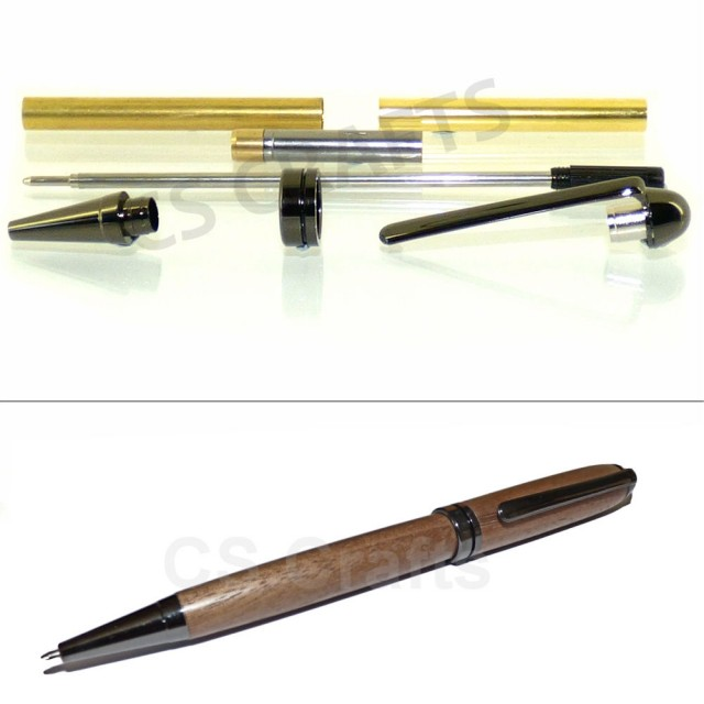 European Pen Kit Set With A Gun Metal Finish Beautiful