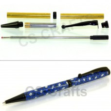 Black Chrome Fancy Pen Kit, Single Kit