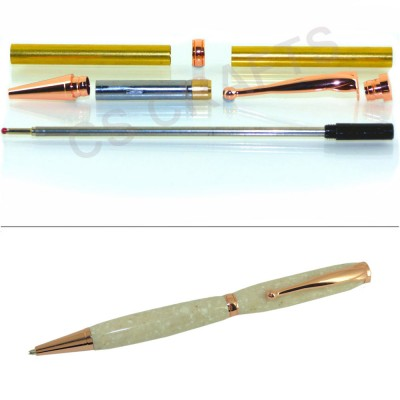 Copper Fancy Pen Kit, Single Kit