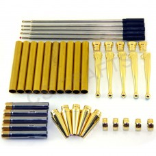 Gold Fancy Pen Kits, Pack of 5