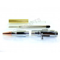 Chrome Lock n Load Bullet Pen Kit