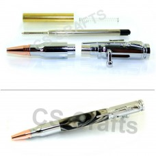 Chrome Rifle Lock n Load Bolt Action Bullet Pen Kit